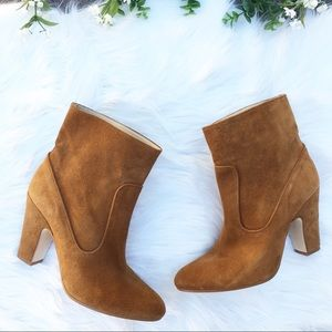 ZARA Basic Collection Ankle Suede Booties Size 8